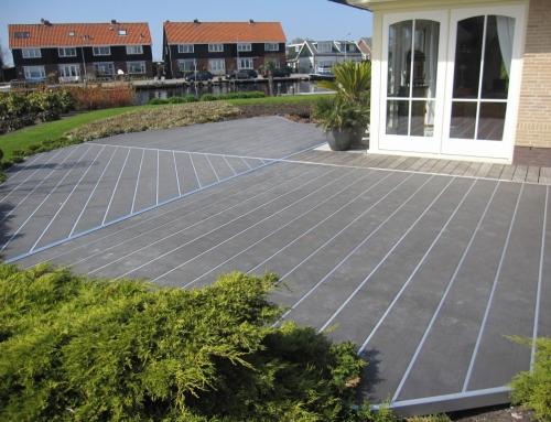 Kunststof terras – Uiterweg Aalsmeer
